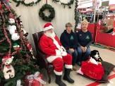 Lora and Myla with Santa