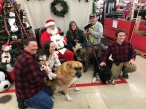 Teddy Jennifer and Andrew join in the fun with Kim David Santa and their furry families